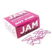 JAM Paper® Butterfly Paper Clips, Pink Paperclips, 15/pack (332BYFU)