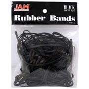 JAM Paper Black Rubber Bands, Regular Size, 100/Pack, (333RBbl)