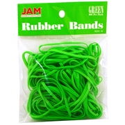 JAM Paper® Rubber Bands, #33 Size, Green Rubberbands, 100/pack (333RBGR)