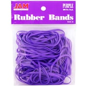 JAM Paper Purple Rubber Bands, Regular Size, 100/Pack, (333RBpu)