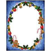 """JAM Paper Candy and Gingerbread Holiday Letterhead, 8.5"""" x 11"""", 100/Pack (52614492A)"""
