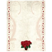 "JAM Paper 8.5"" x 11"" Poinsettias Holiday Letterhead,100/Pack (52614492B)"