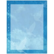 "JAM Paper Holiday Letterhead, 8.5"" x 11"", Peace Joy Faith , 100/Pack (52614492C)"