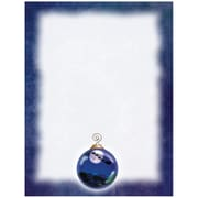 "JAM Paper Holiday Letterhead Paper, 8.5"" x 11"", Ornament With Blue Border, 100/Pack (52614492G)"