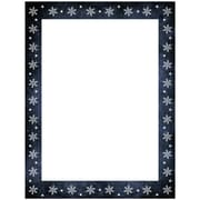 "JAM Paper 8.5"" x 11"" Snowflakes in Dark Blue Border Holiday Letterhead, 100/Pack (52614492J)"