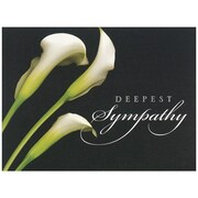 "JAM Paper Sympathy Calla Lilies Blank Card Sets, 5.625"" x 7.875"", 25/Pack (526BG450WB)"