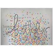 "JAM Paper, Wording with Confetti, Blank Birthday Card Sets, 5.625"" x 7.875"", 25/Pack (526BG501WB)"