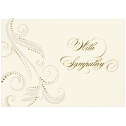 "JAM Paper ""With Sympathy"" Damask Blank Card Sets, 5.625"" x 7.875"", 25/Pack (526BG775WB)"