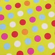 JAM Paper® Christmas Design Wrapping Paper, Colorful Green Polka Dots, 18.75sq ft (526IG70135A)