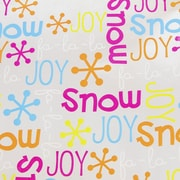 JAM Paper® Christmas Holiday Gift Wrapping Paper, 18.75 sq. ft., Joyful Snowflakes, Sold Individually (526IG70135B)