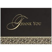 "JAM Paper Golden Damask Blank Thank You Card Sets, 5.625"" x 7.875"", 25/Pack (526M0165WB)"