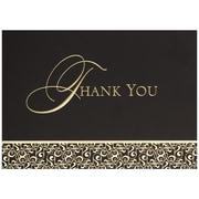 JAM Paper® Thank You Cards Set, Golden Damask, 25/pack (526M0165WB)