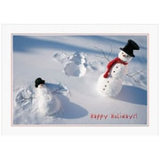 "JAM Paper Snowman Snow Angel Christmas Blank Card Sets, 5.625"" x 7.875"", 25/Pack (526M0265B)"