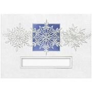 """JAM Paper Silver Snowflakes Die Blank Christmas Card Set, 5.625"""" x 7.875"""", 25/Pack (526M0561B)"""