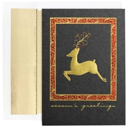 "JAM Paper Elegant Deer Christmas Card Set, 7.9"" x 5.6"", 16/Pack (526M0859MB)"