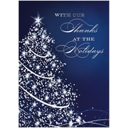 JAM Paper® Blank Christmas Holiday Cards Set, Starry Blue Holiday, 25/pack (526M0975WB)