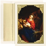 """JAM Paper """"The Holy Family"""" Christmas Card Set, 7.9"""" x 5.6"""", 16/Pack (526M0989MB)"""