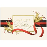 "Cheerful Trimmings Holiday Blank Christmas Card Sets, 5.625"" x 7.875"", 25/Pack (526M0999WB)"