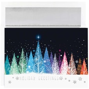 JAM Paper® Christmas Holiday Cards Set, Colorful Trees Holiday, 16/pack (526M1010MB)