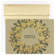 "JAM Paper, Gold Pinecone, Christmas Card Set, 7.9"" x 5.6"", 16/Pack (526M1044MB)"
