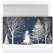 "JAM Paper Christmas Treeline Holiday Card Set, 7.9"" x 5.6"", 16/Pack (526M1049MB)"
