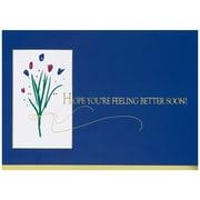 JAM Paper® Blank Sympathy Card Set, Get Well Flowers, 25/pack (526XA3178WB)