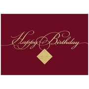 JAM Paper® Blank Birthday Cards Set, Burgundy Birthday, 25/pack (526XA5271WB)