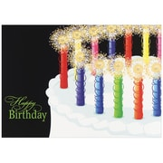 "JAM Paper Birthday Candles Blank Card Set, 5.625"" x 7.875"", 25/Pack (526XA5604WB)"