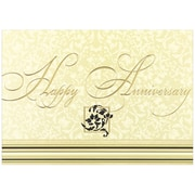 "JAM Paper Happy Anniversary Blank Card Sets, 5.625"" x 7.875"", 25/Pack (526XA5610WB)"