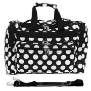 World Traveler Polka Dot ll 16'' Shoulder Duffel; Black / White