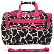 World Traveler Giraffe 16'' Shoulder Duffel; Fuchsia