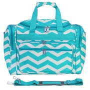 World Traveler Chevron 16'' Shoulder Duffel; Blue / White