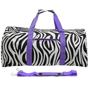 World Traveler Zebra 22'' Lightweight Duffel; Light Purple