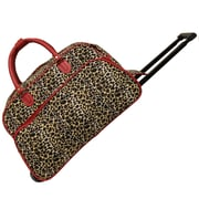 World Traveler Leopard 21'' 2 Wheeled Duffel; Red