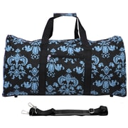 World Traveler Damask ll 22'' Lightweight Duffel; Black / Blue