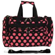 World Traveler Polka Dot ll 16'' Shoulder Duffel; Black / Pink