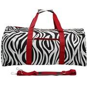 World Traveler Zebra 22'' Lightweight Duffel; Red