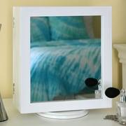 Wholesale Interiors Baxton Studio Dual Sided Tabletop Mirror; White