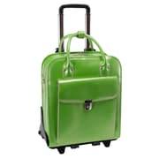 McKlein USA W Series La Grange Leather Laptop Briefcase; Green
