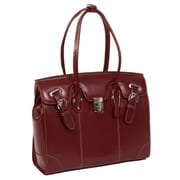 McKlein USA W Series McKlein USA Leclaire Ladies' Laptop Tote Bag; Red