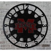 HensonMetalWorks Oversized 37'' Mississippi State Collegiate Wall Clock