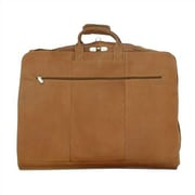 Piel Traveler Garment Bag; Saddle