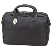 Claire Chase Small Business Leather Laptop Briefcase; Black