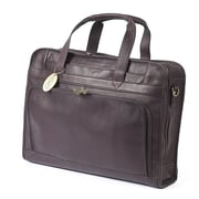 Claire Chase Professional Leather Laptop Briefcase; Caf