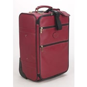Claire Chase Classic 22'' Pullman Rolling Carry On; Red