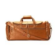 Winn International 21'' Harness Cowhide ''Colombian'' Leather Duffel Bag; Natural