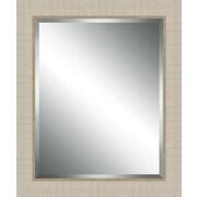 Ashton Wall D cor LLC Wood Framed Beveled Plate Glass Mirror; Small