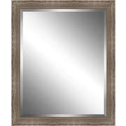 Ashton Wall D cor LLC Scrapped Wood Framed Beveled Plate Glass Mirror; Small