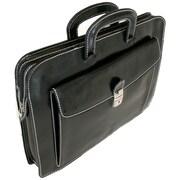 Floto Imports Milano Sleeve Leather Laptop Briefcase; Black