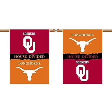 BSI Products NCAA House Divided 2-Sided Banner; Oklahoma v. Texas